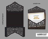 Vector Laser Cutting. Royalty Free Stock Photo