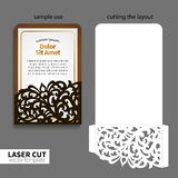 Vector laser cutting. Stock Photography