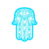 Vector Laser cutting template  Hamsa Royalty Free Stock Image