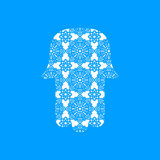 Vector Laser cutting template  Hamsa Stock Images