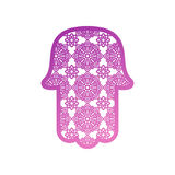 Vector Laser cutting template  Hamsa Royalty Free Stock Photos