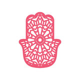 Vector Laser cutting template  Hamsa Royalty Free Stock Photo