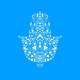 Vector Laser cutting template  Hamsa Royalty Free Stock Photography