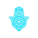 Vector Laser cutting template  Hamsa Royalty Free Stock Images