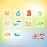 Vector last minute icon pack. Nine different last minute icons f Stock Image