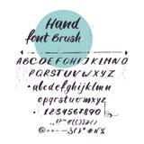 Vector latin alphabet, cursive font. Handwritten letters. Vector latin alphabet - uppercase, lowercase letters, hand font concept. Black handwritten symbols stock illustration