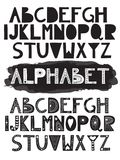 2 vector latin doodle funny alphabets. Can be used for banners, postcards, invitations etc Royalty Free Stock Photography