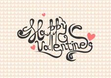 Vector lattering de la caligrafía de día de San Valentín imagen de archivo libre de regalías