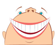 Vector laughing face. Cartoon symbol of fun Royalty Free Stock Image