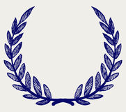 Vector laurel wreath Royalty Free Stock Photos