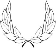 Vector laurel wreath. Vector illustration on white background Royalty Free Stock Images