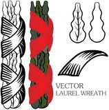Vector laurel wreath Royalty Free Stock Image