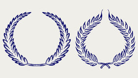 Vector laurel wreath. Doodle style Royalty Free Stock Photography