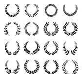Vector Laurel Wreath. Flora theme on a white background set Stock Photo