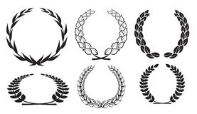 Vector laurel wreaths Royalty Free Stock Photos