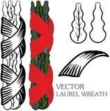 Vector lauwerkrans Royalty-vrije Stock Afbeelding