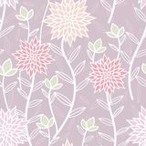 Lavender Spring Tea Party Seamless Pattern stock illustration