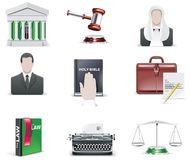 Vector law and order icon set. Part 1. Set of juridical related icons Royalty Free Stock Photo