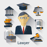 Vector lawyer, attorney or jurist concept background Royalty Free Stock Photography