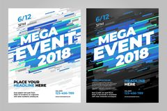Vector layout design template for sport. Vector layout design template for mega event sport event Stock Photos