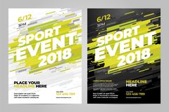 Vector layout design template for sport. Event Stock Images