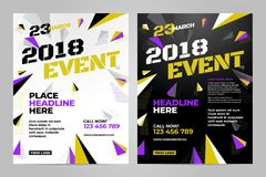 Vector layout design template for sport. Event Stock Photos