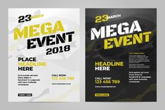 Vector layout design template for sport. Event Stock Photography