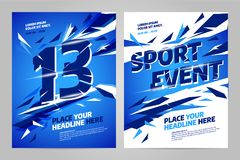 Vector layout design template for sport. Event, tournament or championship Stock Photo