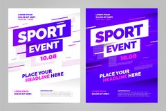 Vector layout design template for sport. Event Royalty Free Stock Photos