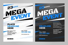 Vector layout design template for sport. Event Royalty Free Stock Photography