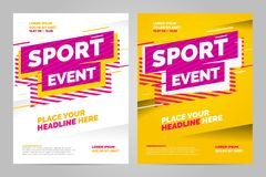 Vector layout design template for sport. Event Royalty Free Stock Photo