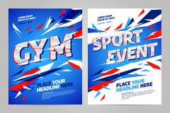 Vector layout design template for sport. Event, tournament or championship Stock Photos