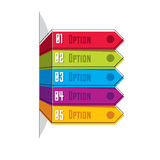 Vector layout of different color five banners infographic elemen Stock Photography