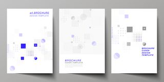 The vector layout of A4 format modern cover mockups design templates for brochure, magazine, flyer, booklet, annual. Report. Abstract vector background with stock illustration