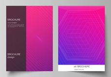 The vector layout of A4 format modern cover mockups design templates for brochure, magazine, flyer, booklet, annual. Report. Abstract geometric pattern with vector illustration