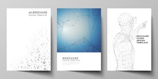 Vector layout of A4 format modern cover mockups design templates for brochure, magazine, flyer, booklet, annual report. The vector layout of A4 format modern royalty free illustration