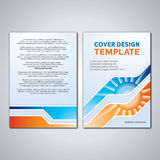 Vector Layout Modern Abstract Cover, Book, Magazine, Flyer, Brochure, Stationary Design Template Stock Photography