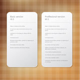 Vector layout for offer - order signs. Compare different version Royalty Free Stock Image