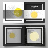 Vector layout of two covers templates for square design bifold brochure, magazine, flyer, booklet. Science or technology. The vector layout of two covers vector illustration