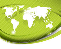 Vector layout with world map background Royalty Free Stock Images