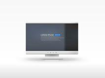 Vector LCD monitor. Vector illustration of big monitor Stock Photo