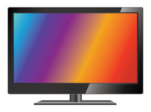 Vector lcd tv. LCD TV screen. LCD flat television Stock Images