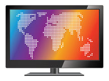 Vector lcd tv Stock Image