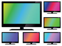 Vector lcd tv. LCD TV screen. LCD flat television Royalty Free Stock Images