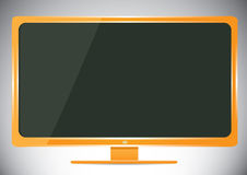 vector Lcd tv monitor. Royalty Free Stock Images