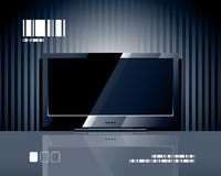 Vector LCD TV screen Royalty Free Stock Photography