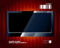Vector LCD TV screen Stock Photography