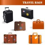 Vector le borse di viaggio Immagini Stock