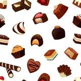 Vector le caramelle di cioccolato del fumetto modello o l'illustrazione del fondo illustrazione vettoriale