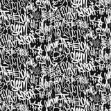 Vector le etichette il modello senza cuciture, progettazione dei graffiti della stampa illustrazione di stock